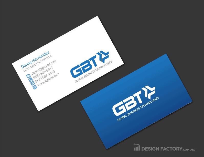 Tarjeta de presentación para empresa de tecnología
