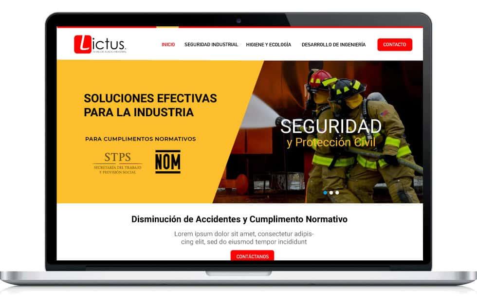 diseño web para industria B1