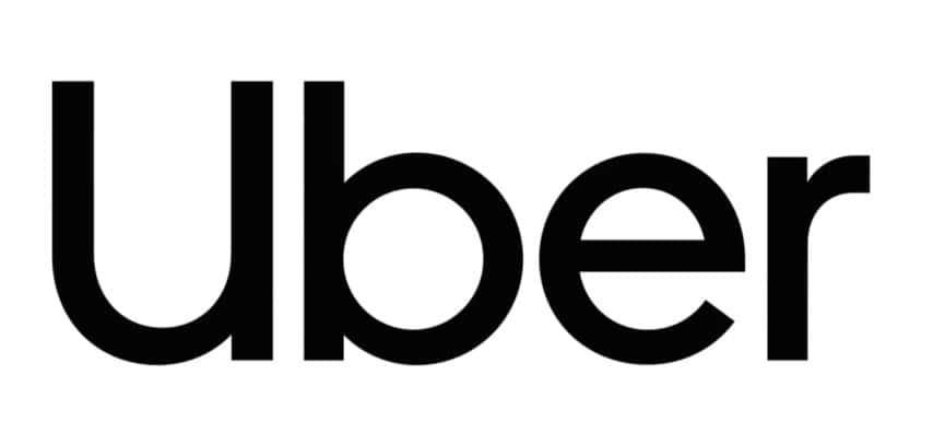 Logo Uber 2018 sobre blanco