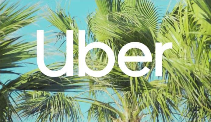 Logo Uber 2018 sobre fotos