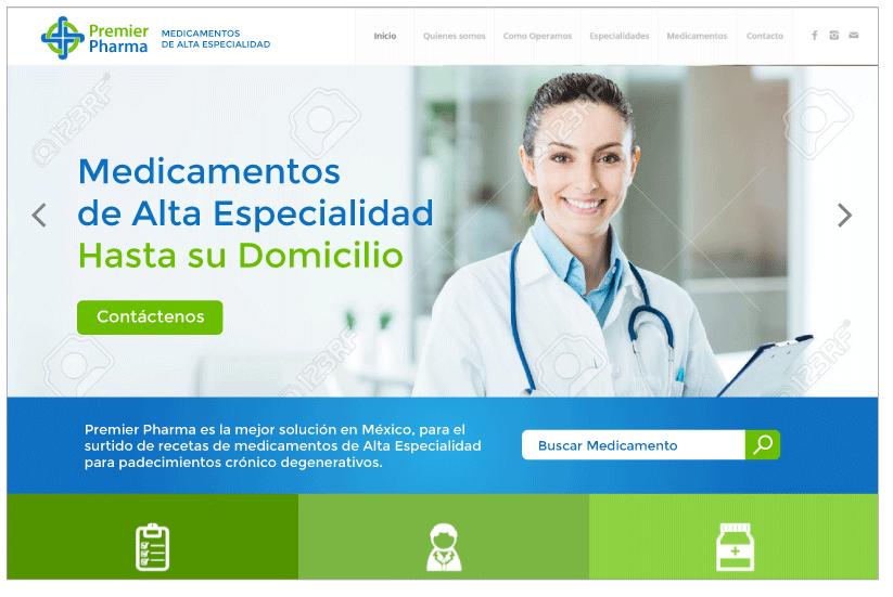 Diseño Web Premier Pharma A1