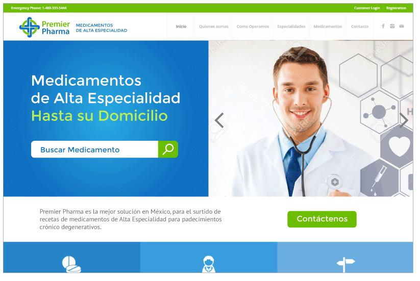 Diseño Web Premier Pharma B1