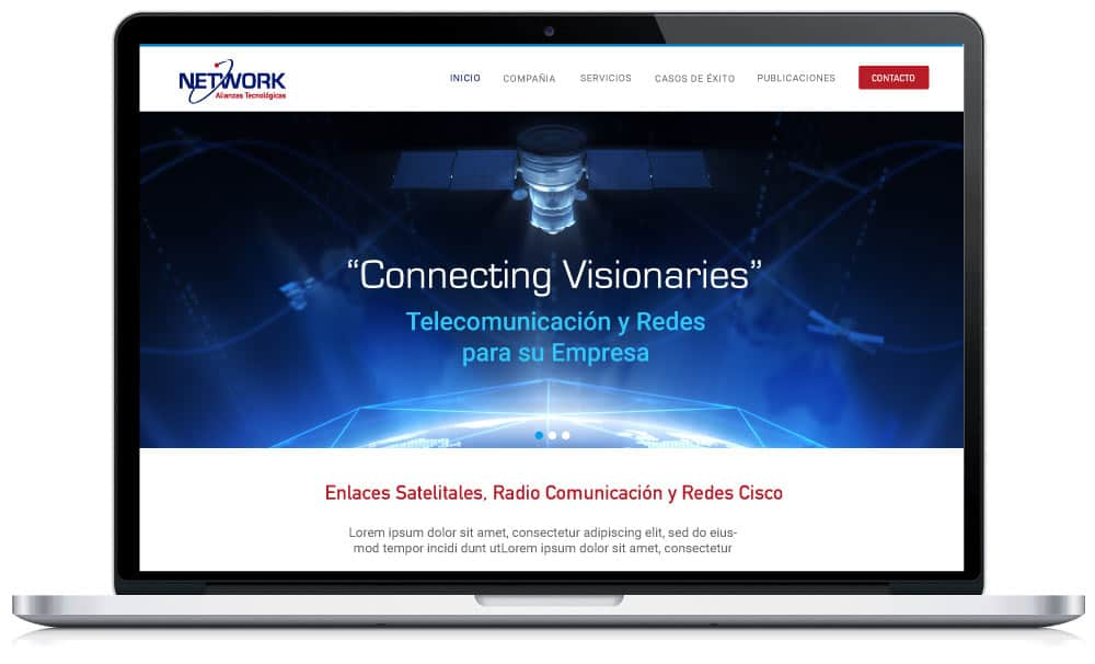 Website Telecomunicaciones <a href=